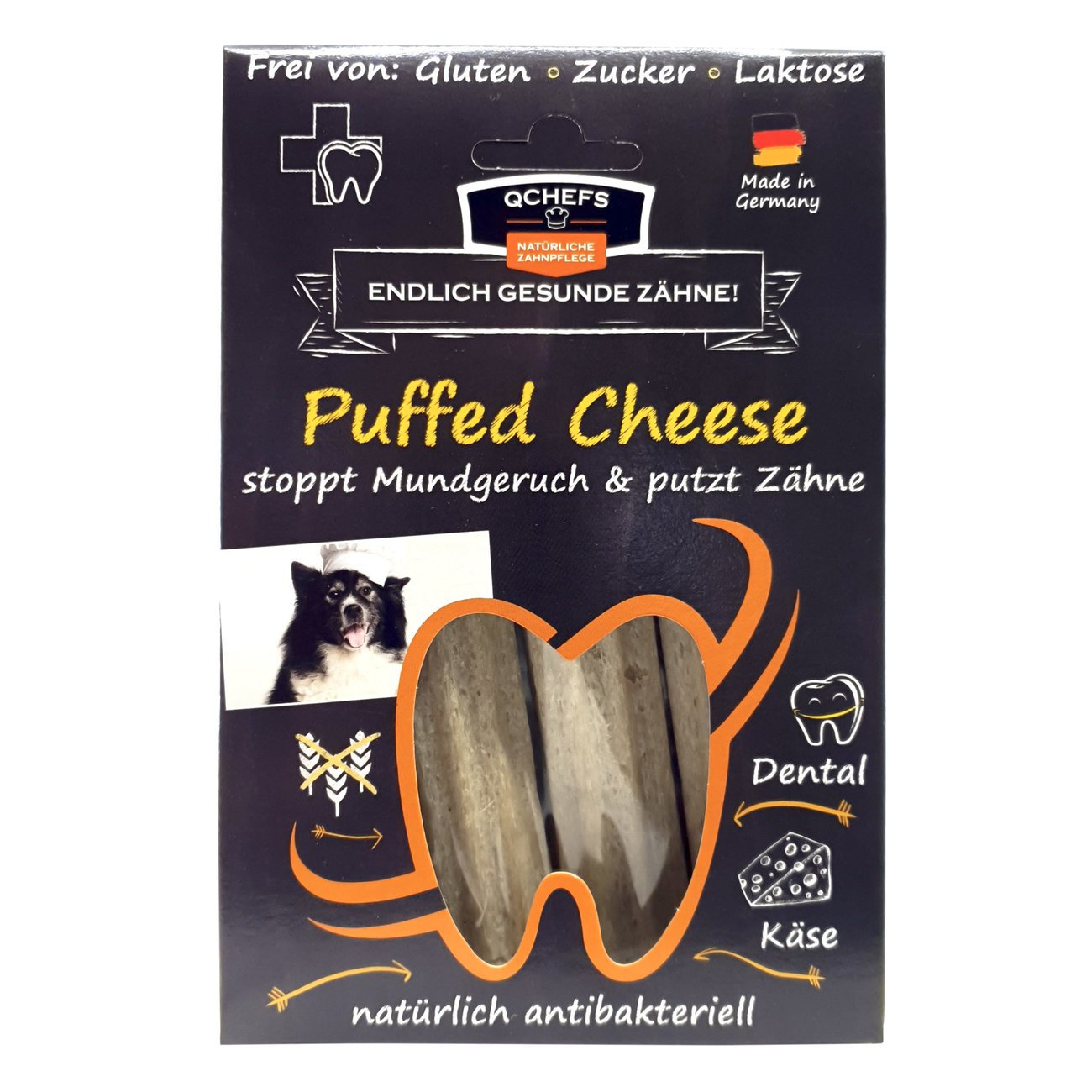 Qchefs Kauknochen Puffed Cheese