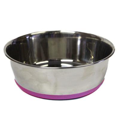 Rogz Bowlz Slurp, Hundenapf aus Edelstahl, Gr. S - Pink - 650 ml