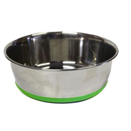 Rogz Bowlz Slurp, Hundenapf aus Edelstahl, Gr. S - Lime - 650 ml