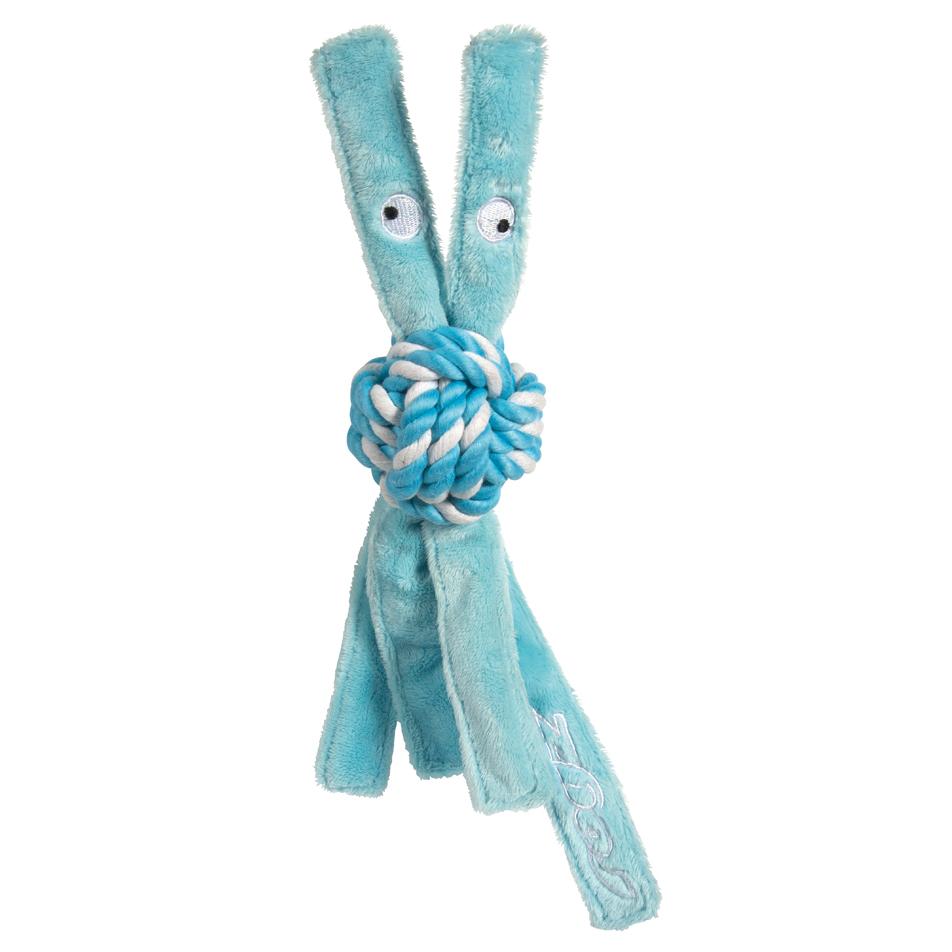 Rogz Cowboyz - Hundespielzeug für Welpen, blau - M