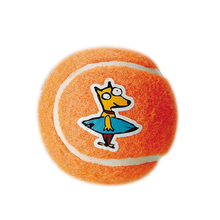 Rogz Molecules Tennisball für Hunde, orange - M
