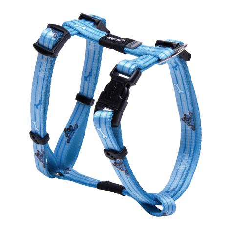 Rogz Yip Yap Yo Hundegeschirr für Welpen, Größe S: Brustumfang 21 - 34 cm, Breite 12 mm, blau