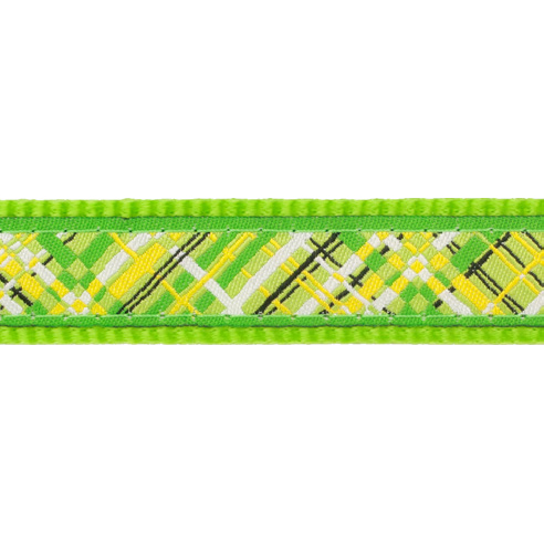 Red Dingo Hundehalsband Design Flanno Lime Green, Bild 2