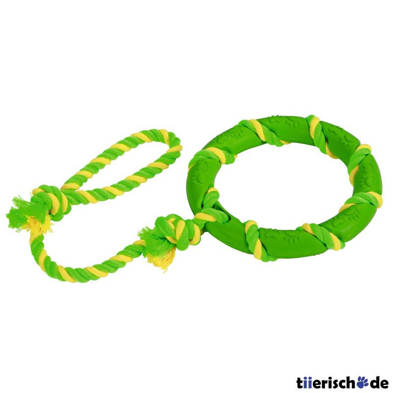 Kerbl Ring am Seil für Hunde
