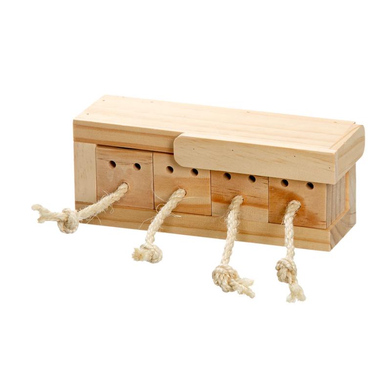 Karlie Rody Brain Train Cube Intelligenzspielzeug für Kleintiere, 6 Klötze L: 37 cm B: 8.5 cm H: 6.5 cm natur