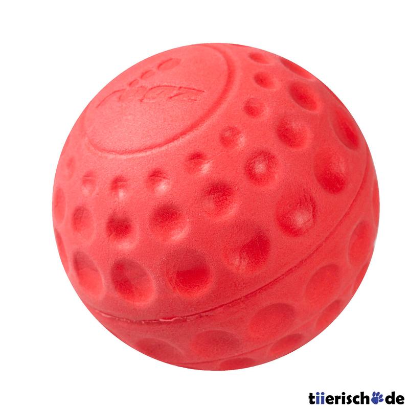 Rogz Asteroidz Hundeball schwimmfähig, 7,8cm Ø rot