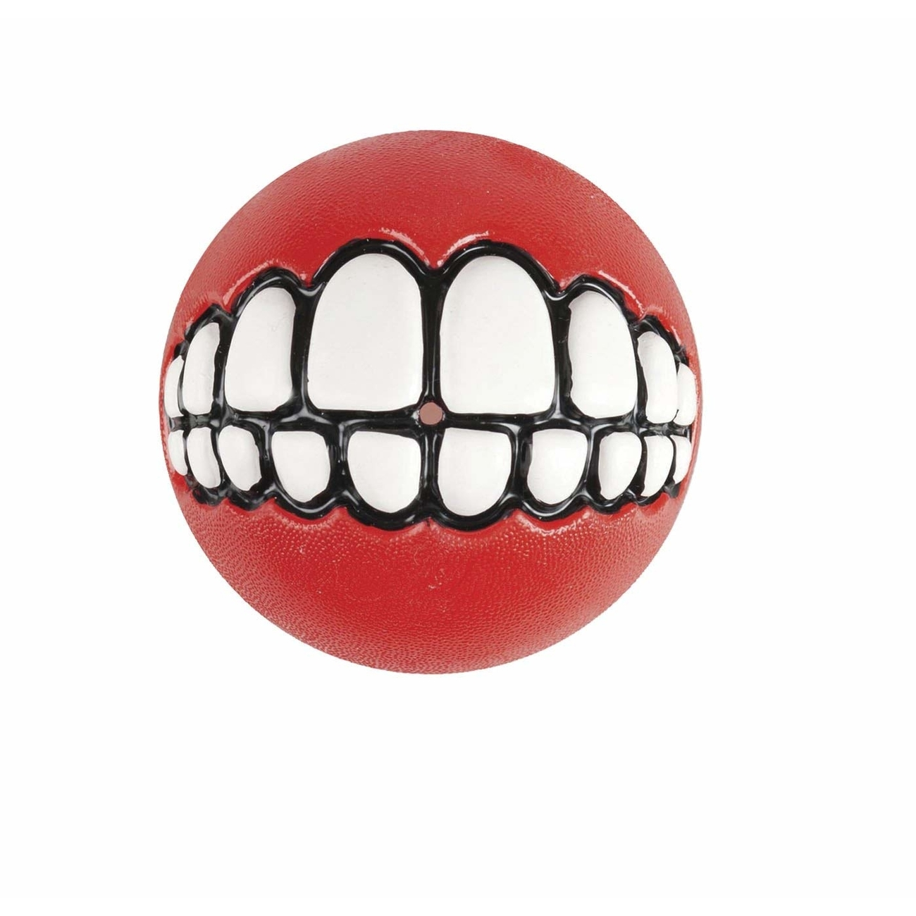 ROGZ Grinz Ball für Hunde, 6,4cm Ø rot