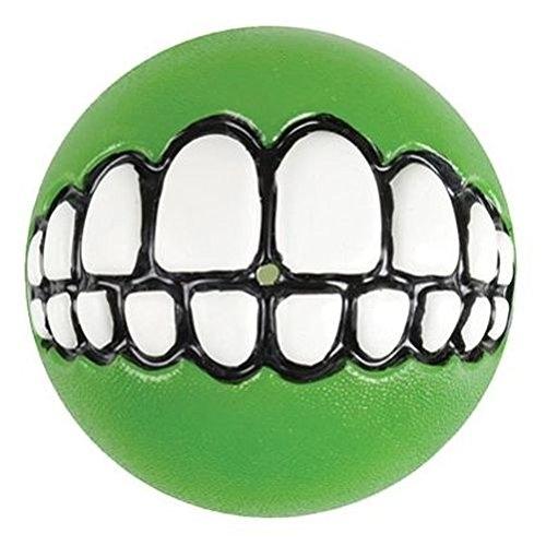 ROGZ Grinz Ball für Hunde, 7,8cm Ø grün