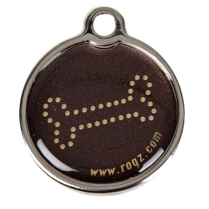 RogZ ID Tag - Metall Adressanhänger, S - Bronze Bone