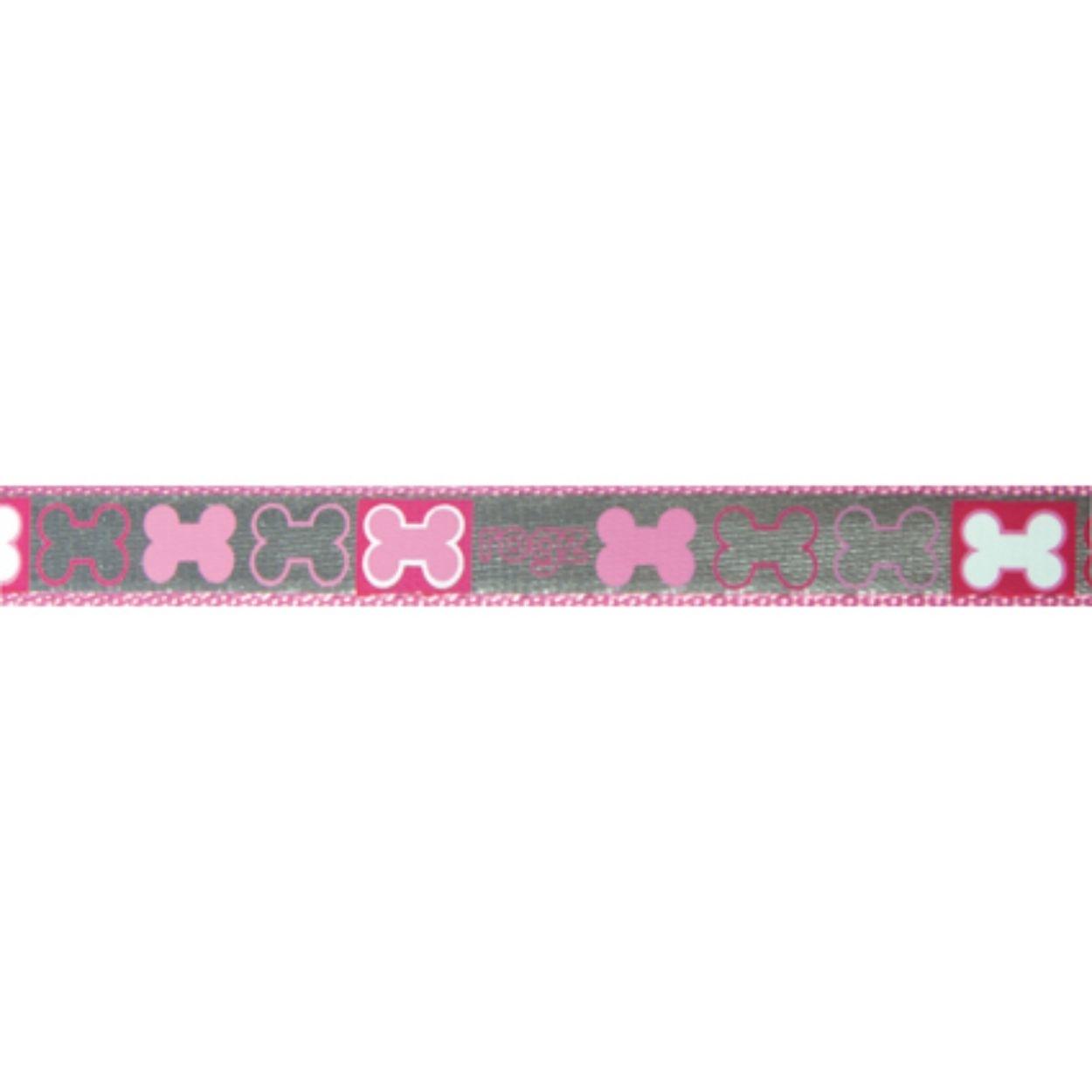 Rogz Reflecto - Hundeleine reflektierend, pink - 180 cm x 8 mm