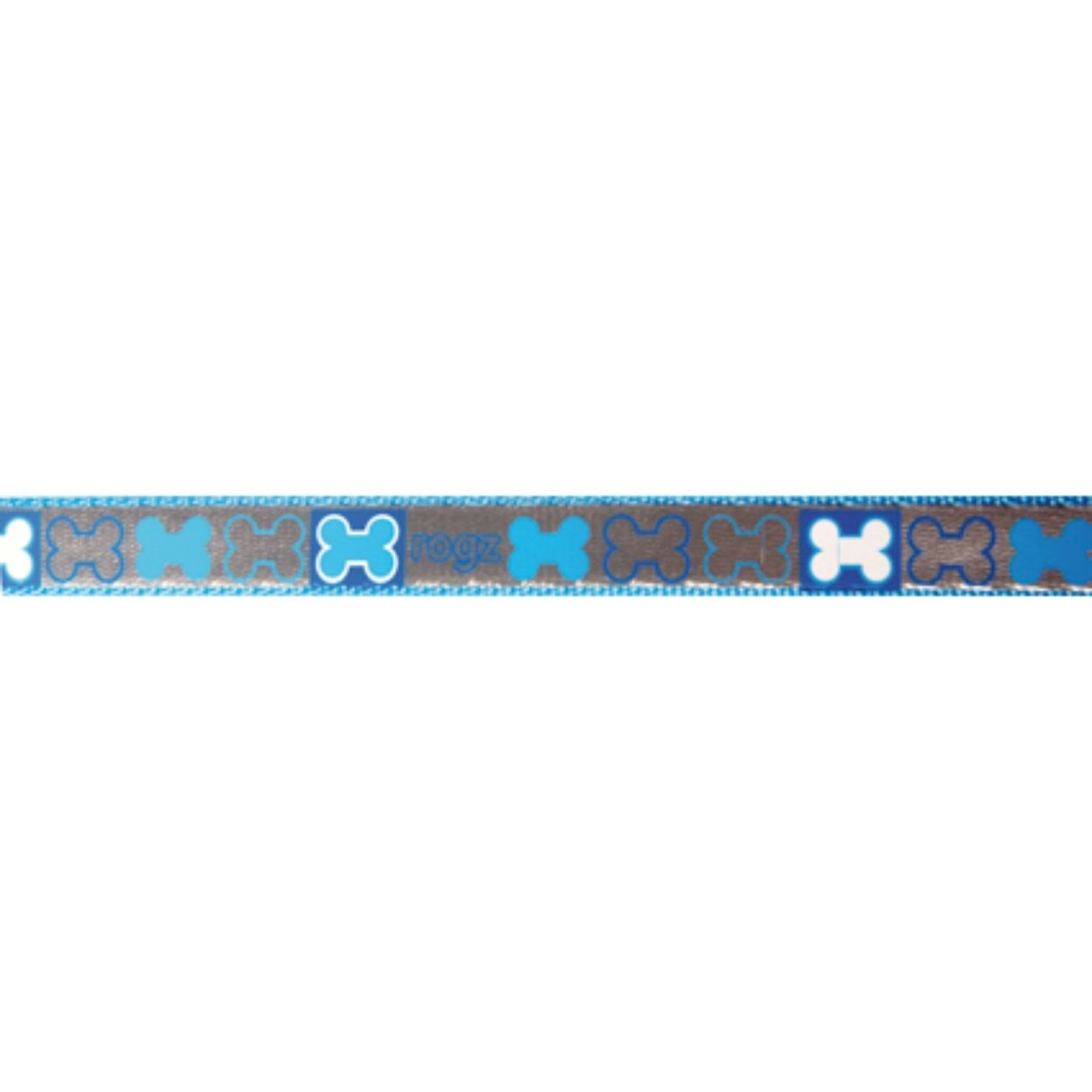 Rogz Reflecto - Hundeleine reflektierend, blau - 180 cm x 8 mm