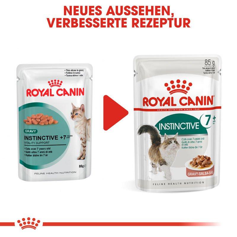 Royal Canin INSTINCTIVE 7+ Nassfutter in Soße für ältere Katzen, Bild 8