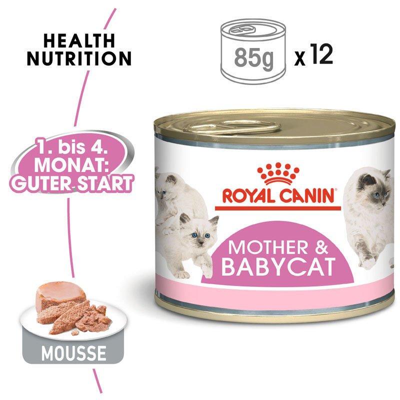Royal Canin MOTHER & BABYCAT Mousse für tragende Katzen und Kitten, Bild 2