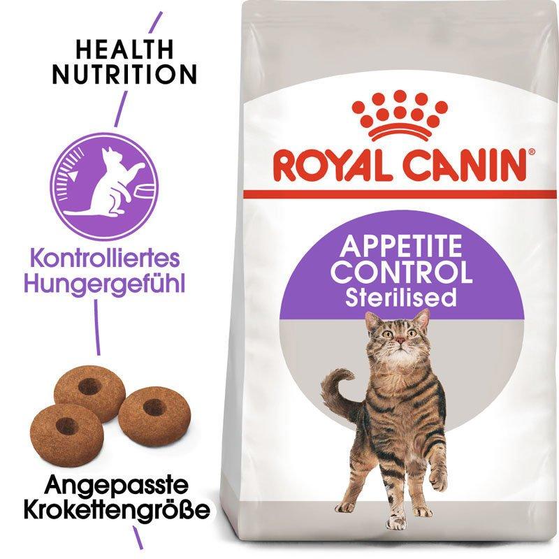 Royal Canin STERILISED Appetite Control Trockenfutter für kastrierte übergewichtige Katzen, Bild 3