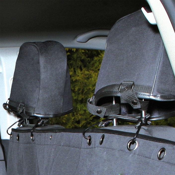 TRIXIE Rücksitz Auto-Schondecke teilbar mit Kopfstützen-Schutz 1324, Bild 2