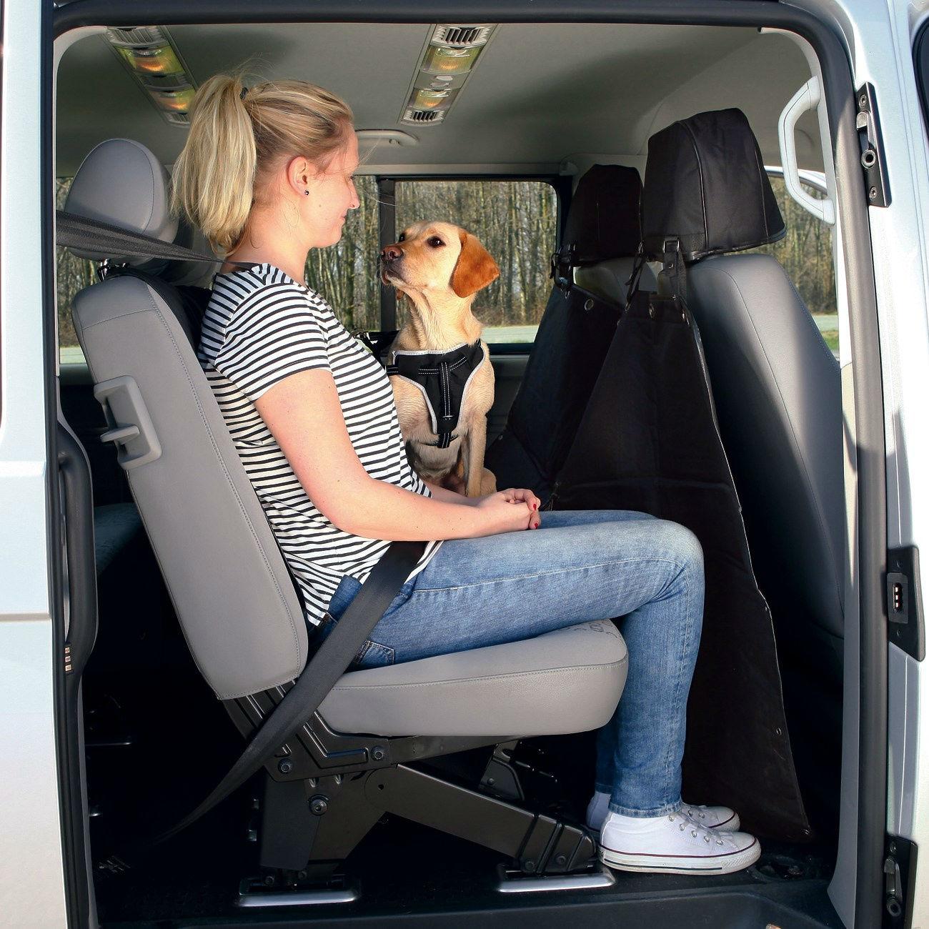TRIXIE Rücksitz Auto-Schondecke teilbar mit Kopfstützen-Schutz 1324, Bild 3