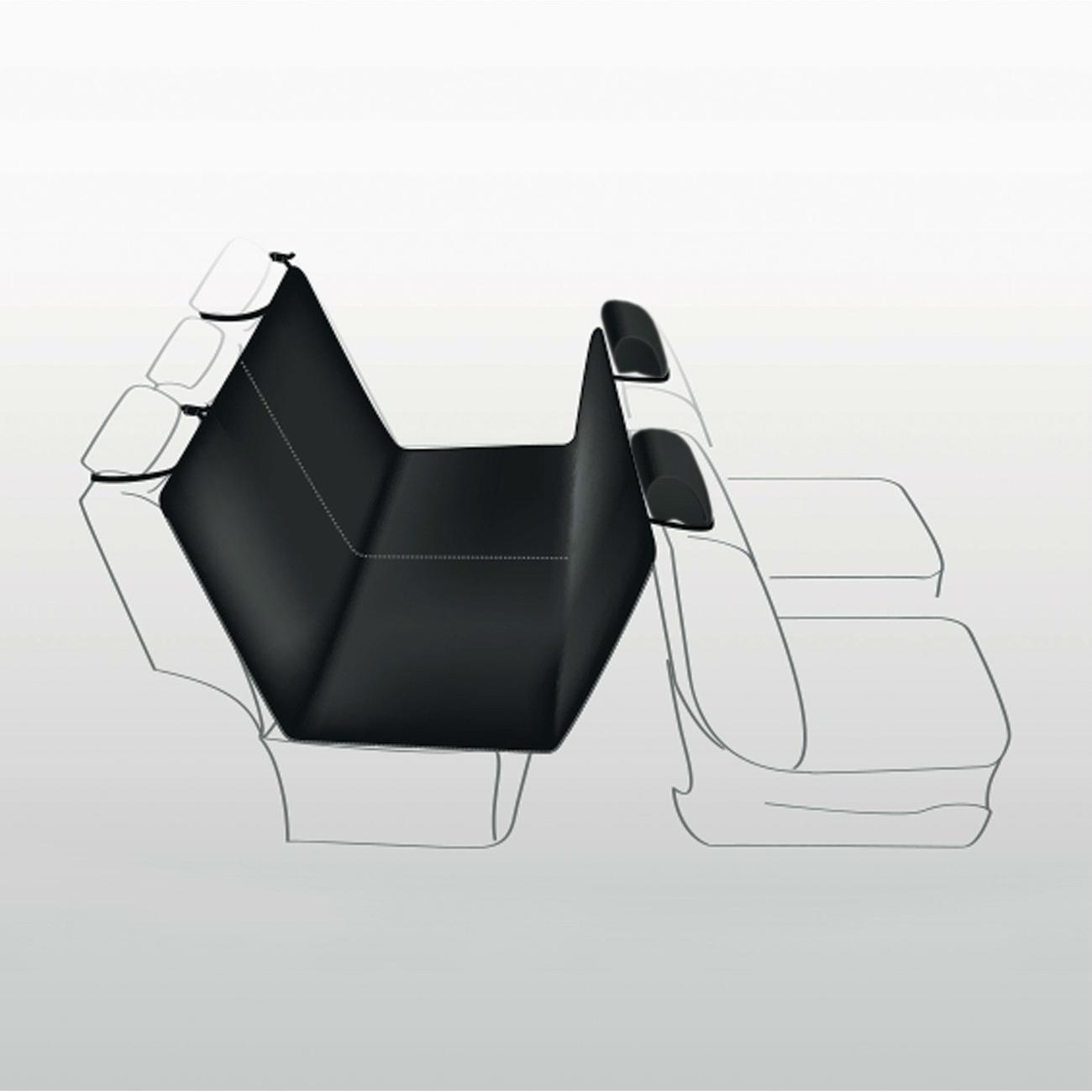 TRIXIE Rücksitz Auto-Schondecke teilbar mit Kopfstützen-Schutz 1324, Bild 4