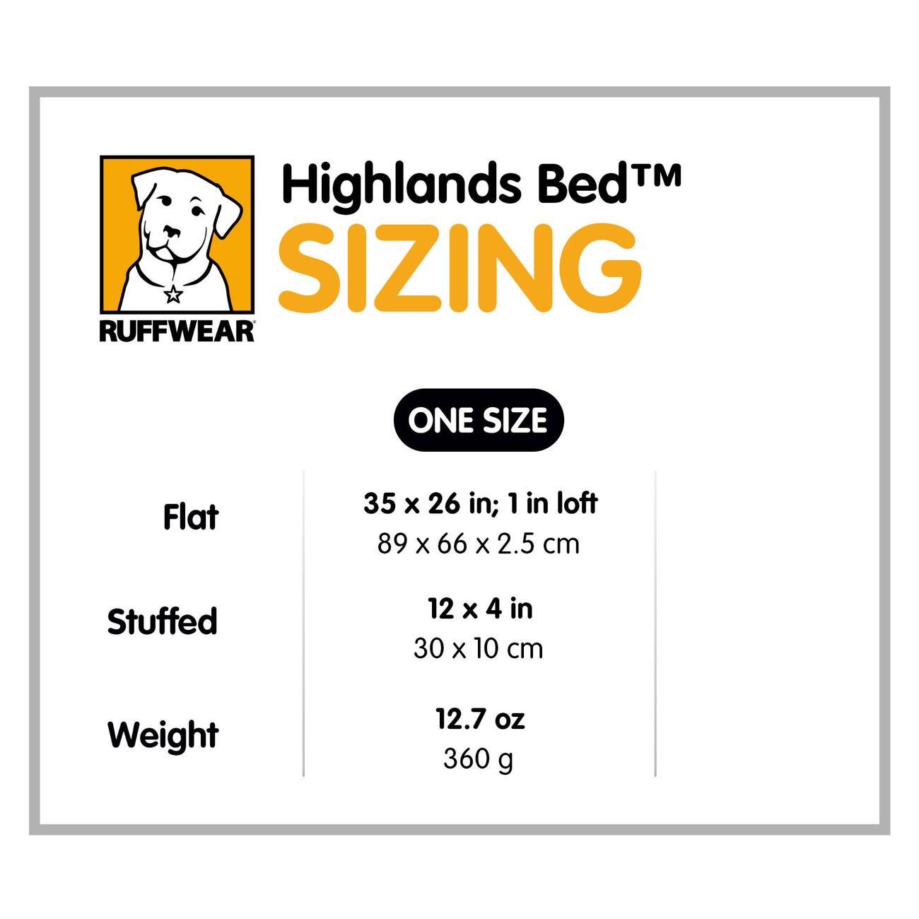 Ruffwear Hundebett Highlands Bed für Outdoor, Bild 10