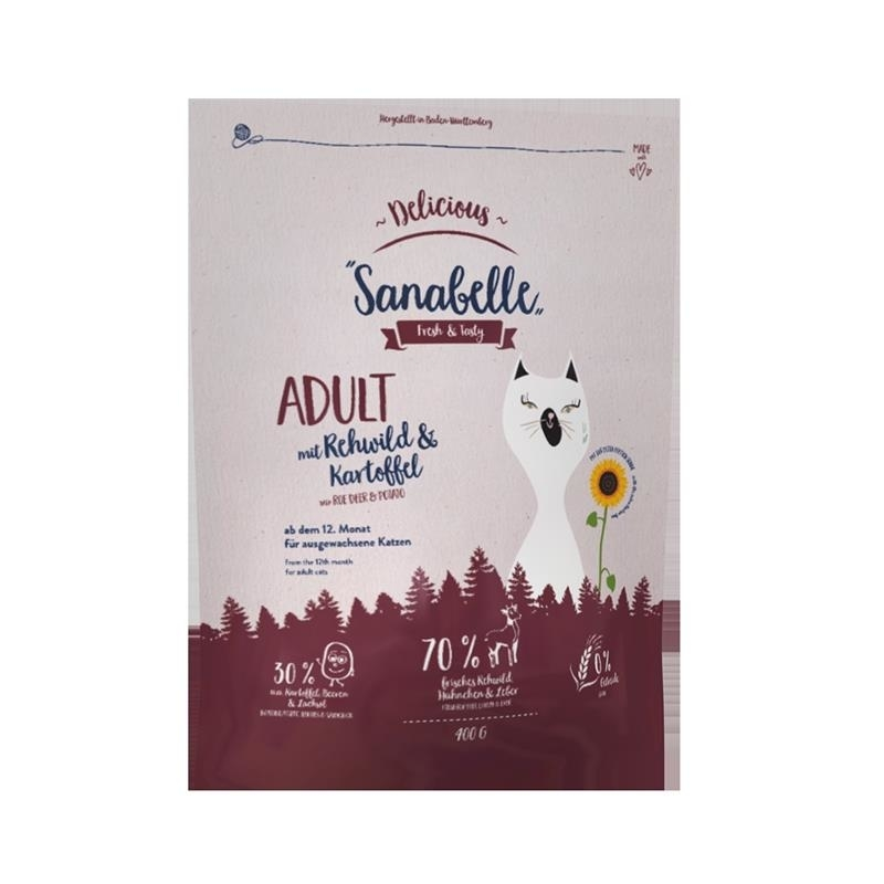 Sanabelle Delicious Adult Rehwild + Kartoffel, Bild 2