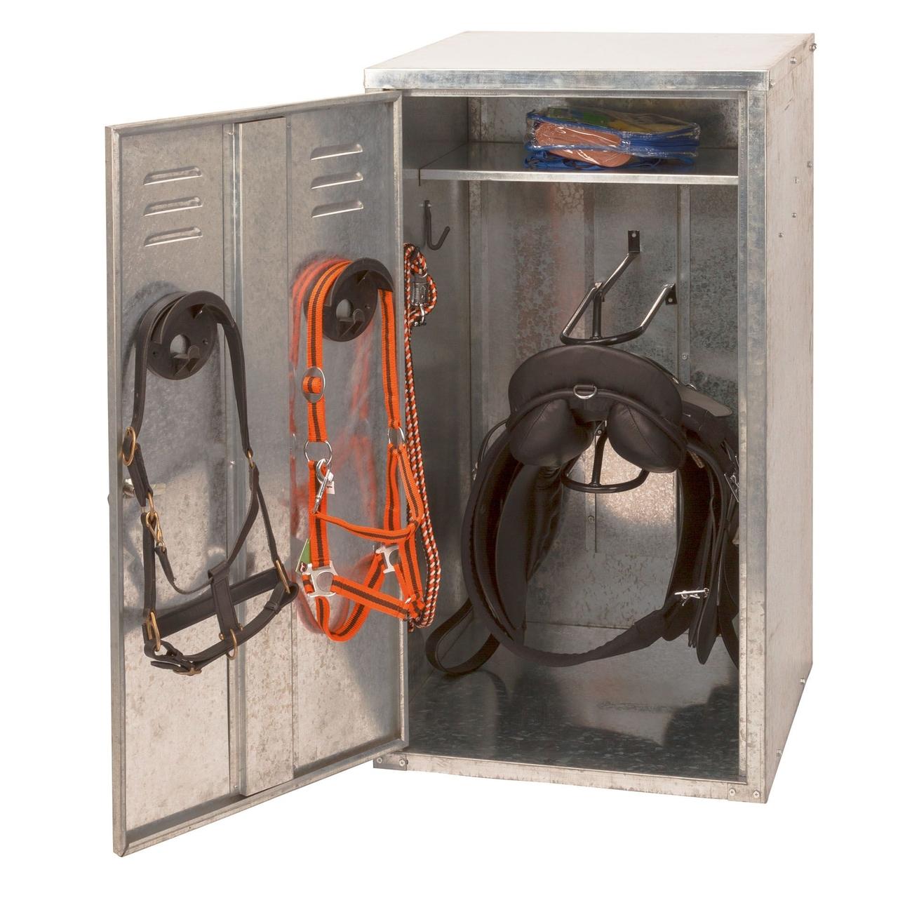 Kerbl Sattelschrank Aufbewahrung für 2 Sättel, 60x60x150 cm (ca. 38kg)