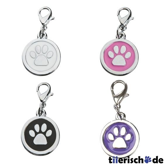 Trixie Schmuck Anhänger für Hunde, Pfote, klein, ø 14 mm