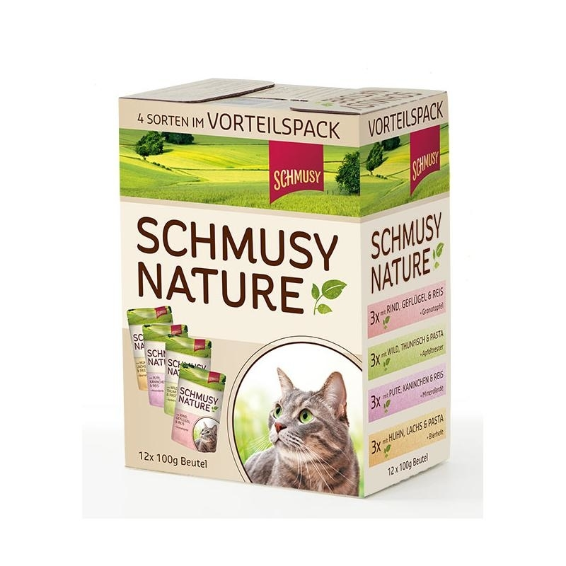Schmusy Nature Multipack Katzenfutter, 12x100g