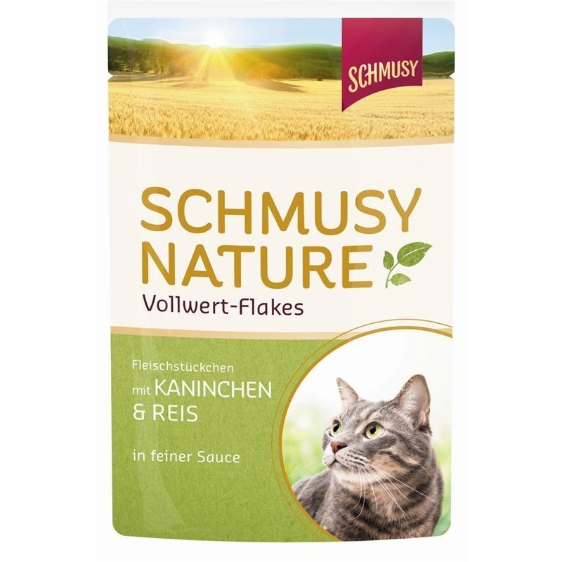Schmusy Vollwert Flakes Katzenfutter Portionsbeutel, Bild 2