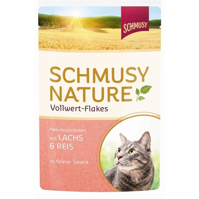 Schmusy Vollwert Flakes Katzenfutter Portionsbeutel, Bild 3