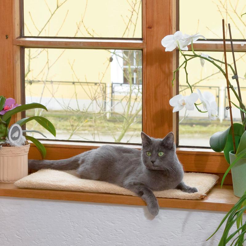 Kerbl Selbstwärmendes Fensterbankkissen für Katzen