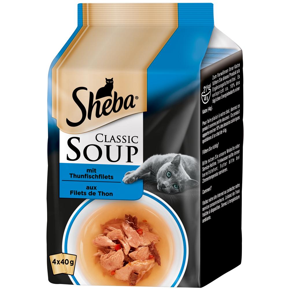 Mars Sheba - Classic Soup, Thunfischfilet 4x40g