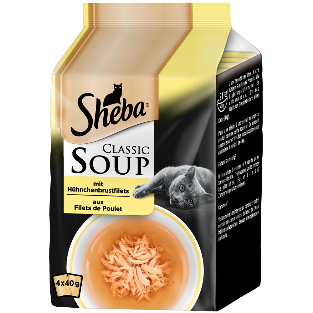 Mars Sheba - Classic Soup, Hühnchenbrustfilet 4x40g