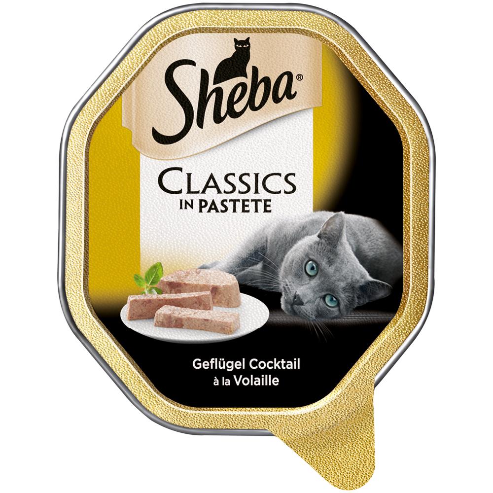 Mars Sheba Schale Classics Katzenfutter, mit Rind & Huhn 22x85g