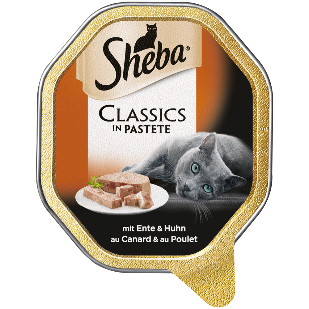 Mars Sheba Schale Classics Katzenfutter, mit Ente & Huhn 22x85g