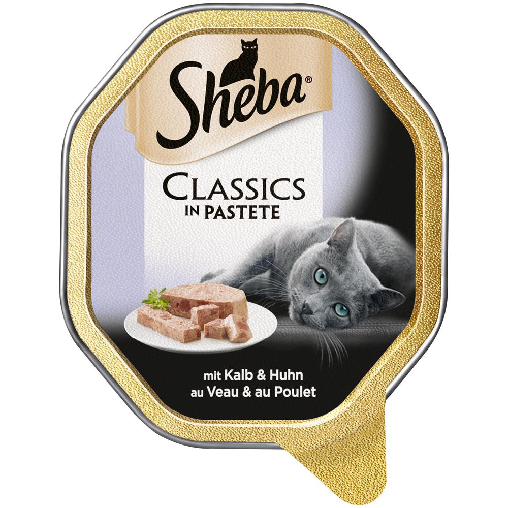 Mars Sheba Schale Classics Katzenfutter, mit Kalb & Huhn 22x85g