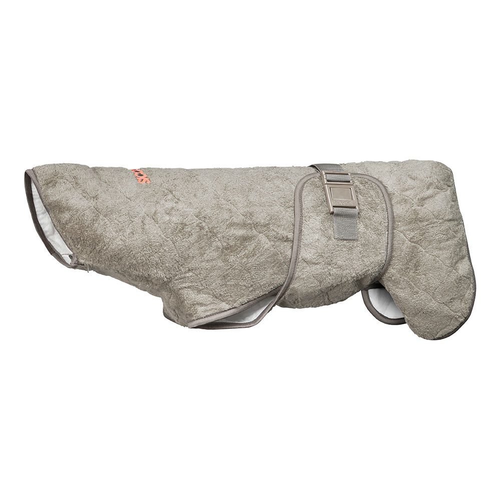 SICCARO Hundemantel Bademantel WetDog SupremePro, Sand XS, Rücken 20-27 cm