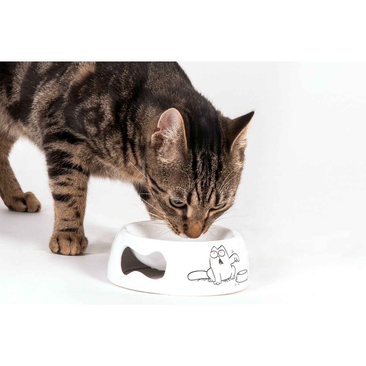 Karlie Simons Cat Katzennapf weiss, Bild 2