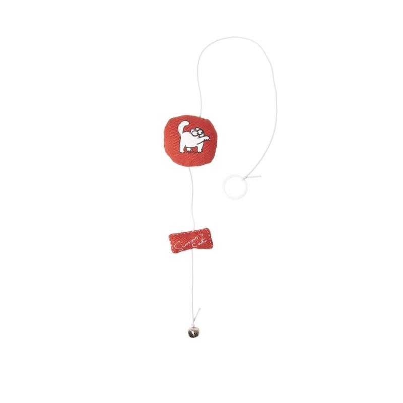 Karlie Simon's Cat Katzenspielzeug rund, 6 x 6 x 2 cm, rot