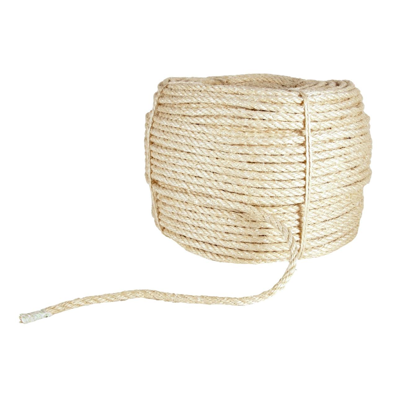 Trixie Seil 10 mm für Kratzbaum, Meterware, Sisal, 10 mm, je Meter