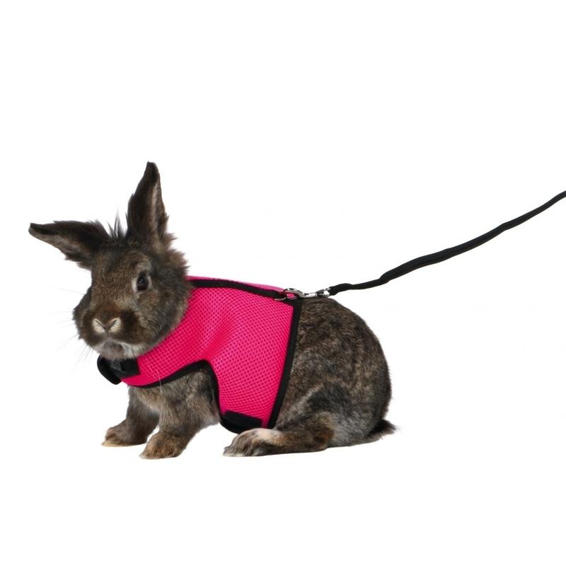 Trixie Softgeschirr für große Kaninchen mit Leine 61514