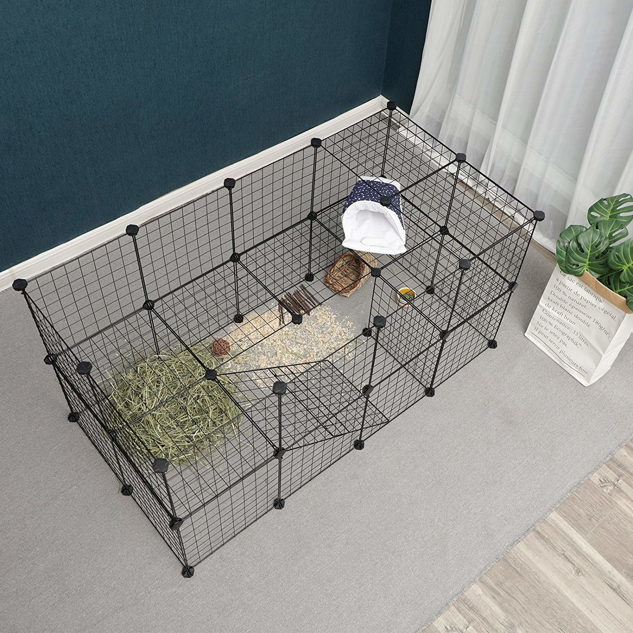 SONGMICS Gittergehege großes Laufgitter für Kleintiere und Meerschweinchen, Bild 3