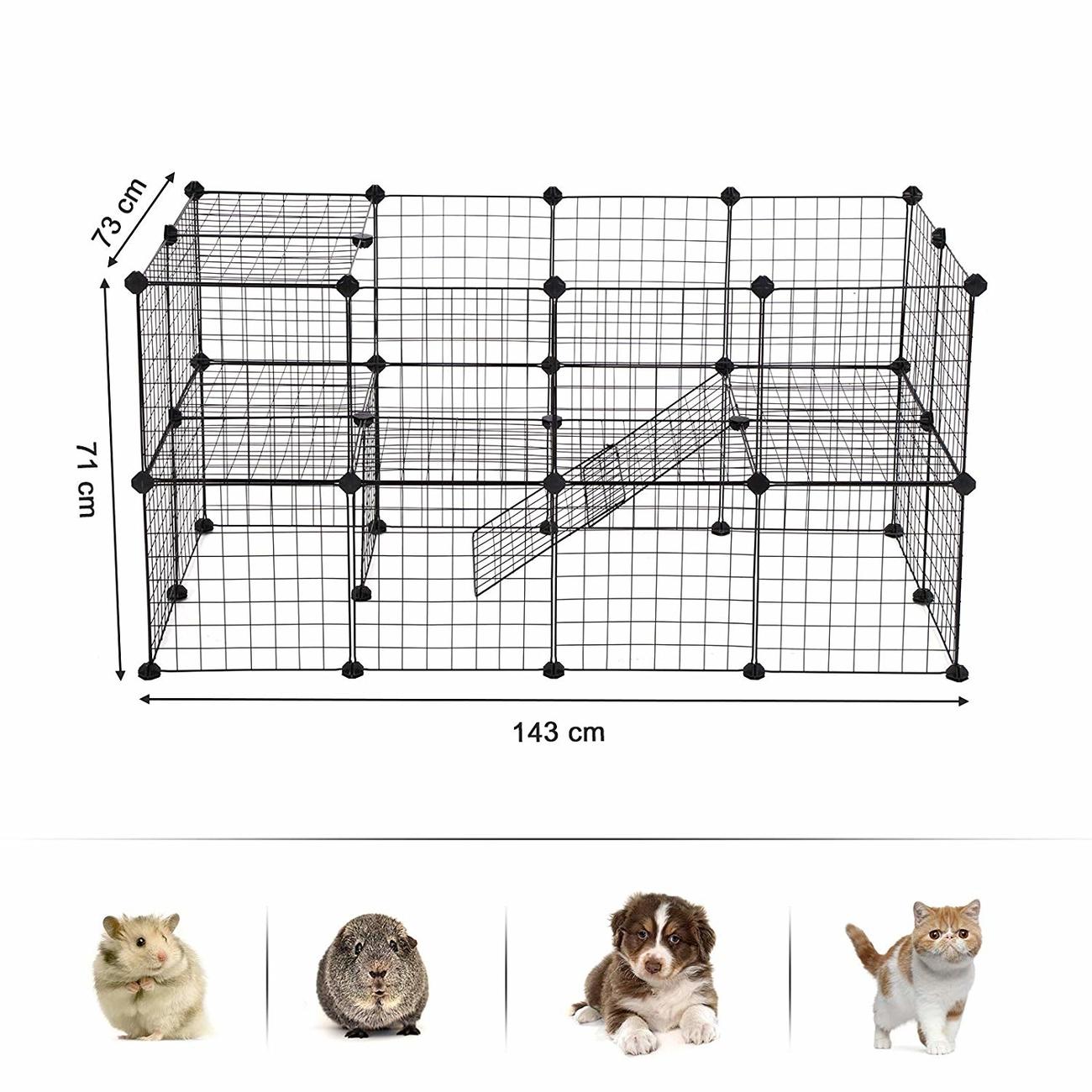SONGMICS Gittergehege großes Laufgitter für Kleintiere und Meerschweinchen, Bild 5