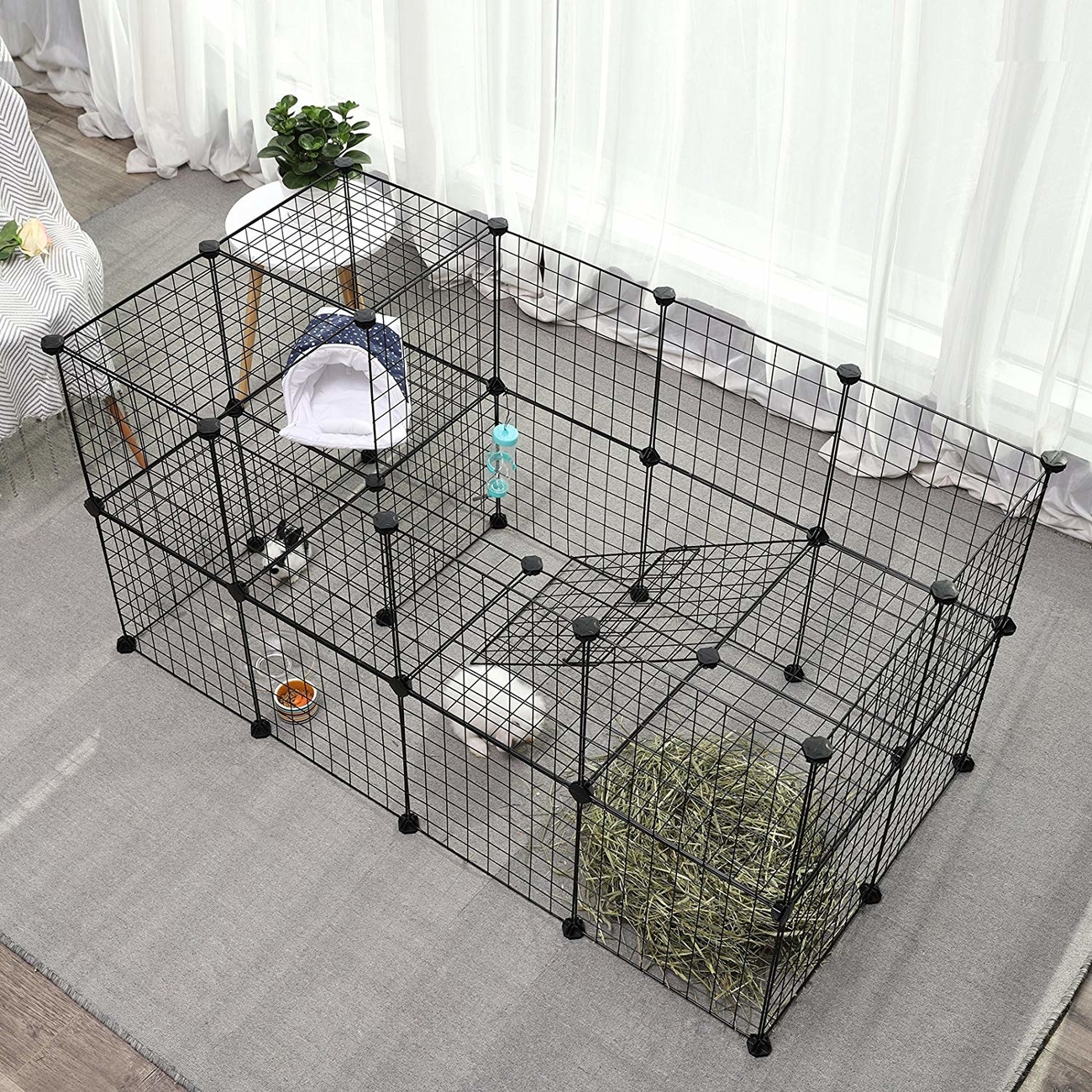 SONGMICS Gittergehege großes Laufgitter für Kleintiere und Meerschweinchen, Bild 2
