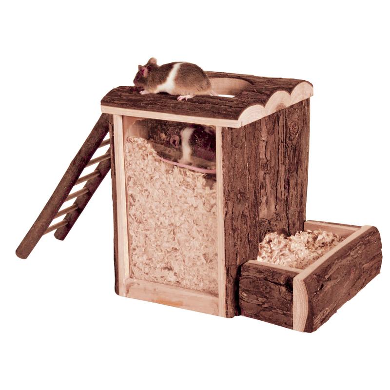 Trixie Spielturm und Buddelturm Hamster Maus, 20x20x16cm