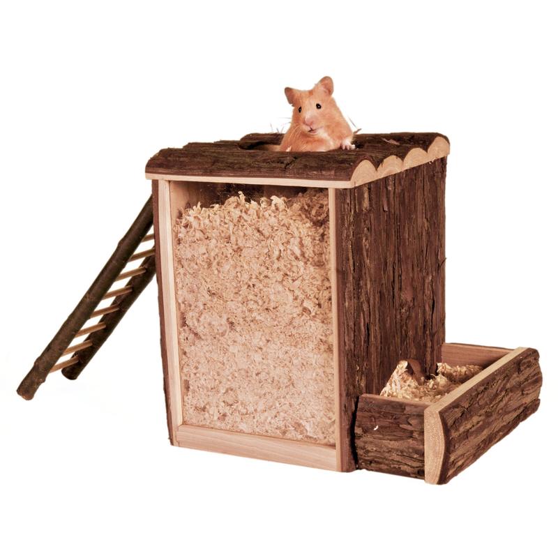 Trixie Spielturm und Buddelturm Hamster Maus, 25x24x20cm