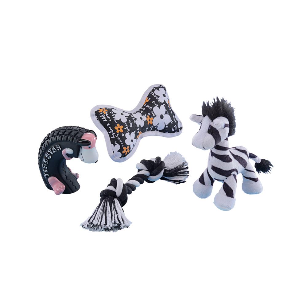 Nobby Starter Set 4-teilig Spielzeugmix für Welpen und kleine Hunde