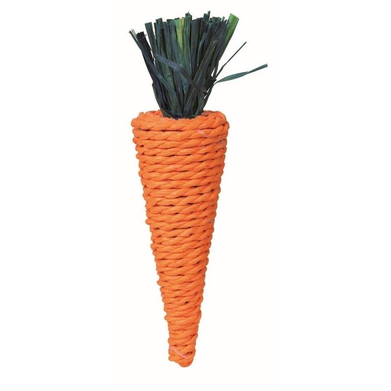Trixie Stroh-Karotte für Kleintiere, Stroh, 20 cm