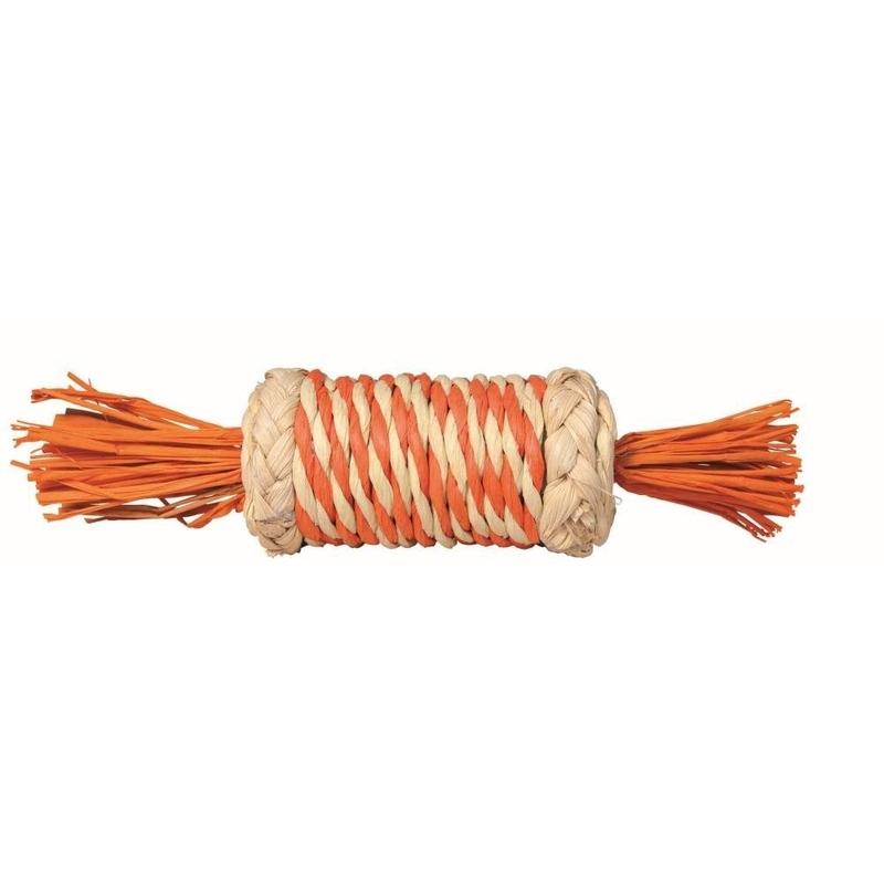 Trixie Stroh-Rolle für Kaninchen und Meerschweinchen, 18 cm