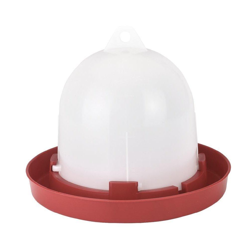 Stükerjürgen Kükentränke Hühnertränke Bodenhaltung, 1,5 l, weiß/rot