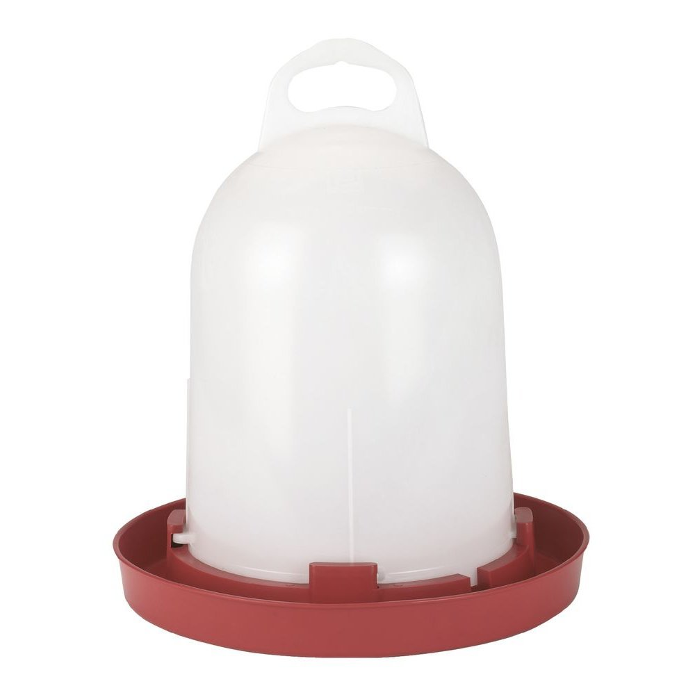 Stükerjürgen Kükentränke Hühnertränke Bodenhaltung, 5,5 l, weiß/rot