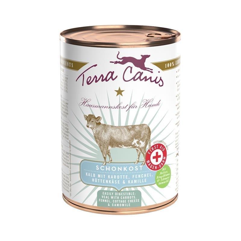 Terra Canis Schonkost First-Aid, 12 x 400 g, Kalb & Karotten
